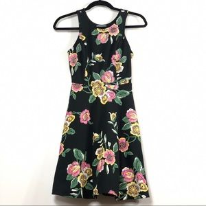 Dark Moody Floral Embroidered Dress